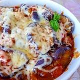 冷凍茄子のチーズ焼き