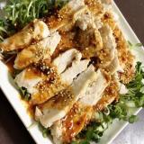 蒸し鶏の棒棒鶏風サラダ