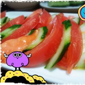 簡単‼ひんやり~♡トマトサラダ(*´▽`*)