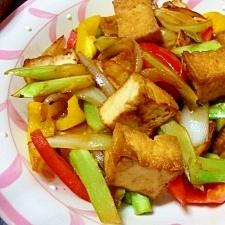 厚揚げと野菜の生姜炒め