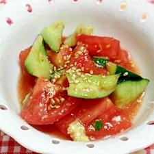 きゅうりとトマトのナムル