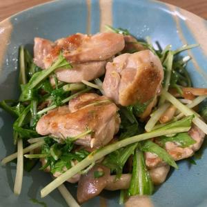 シャキシャキ水菜と柚子胡椒マヨネーズのチキンソテー