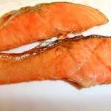鮭の塩焼きに、ひと工夫