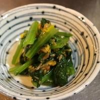小松菜となめたけの和え物