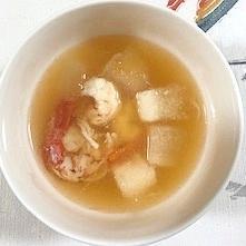 冬瓜、海老のスープ