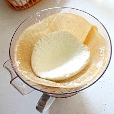 コーヒーフィルターでリコッタチーズ作り