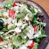 アボカドとミニトマトのグリーンサラダ