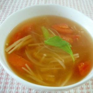 トマトとえのきのさっぱりスープ