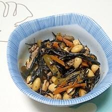 ひじきと大豆の煮物++