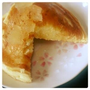 りんご&シナモン♪大人のホットケーキ