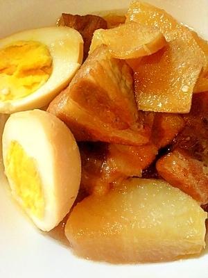 ☆圧力鍋でトロトロ!豚の角煮と大根&ゆで卵☆