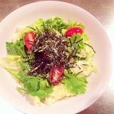 【免疫力アップ】春菊と海苔のバランスサラダ