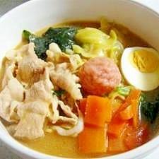 ☆簡単☆たっぷり野菜の味噌煮込みラーメン