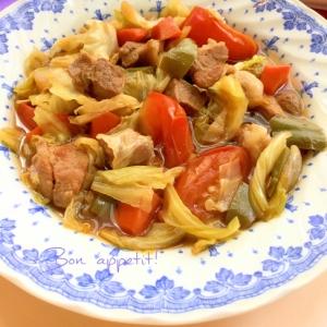 豚肉と野菜の薄味ピリ辛煮
