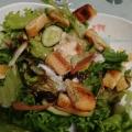 ささ身と油揚げと水菜のサラダ