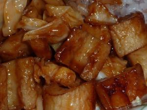 竹輪とキャベツのウスターマヨ炒め