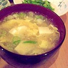 何気に本格!?でも早い!☆豆腐と卵の中華スープ