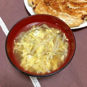 もやしだけの鶏ガラコンソメ卵スープ♡
