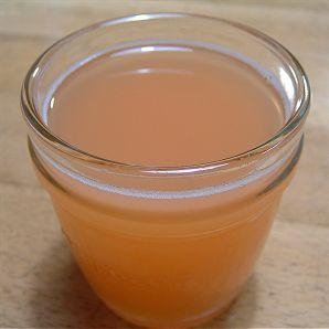 市販ジュースを使用したグレープフルーツゼリー