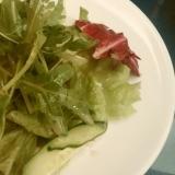 水菜のシャキシャキサラダ