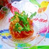 春菊とトマトの和風サラダ