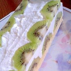 キウイの寒天レアチーズケーキ