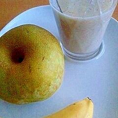 バナナと梨のフレッシュジュース