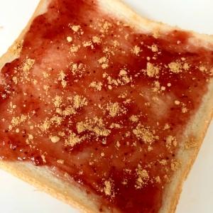 イチゴジャムときな粉のトースト☆