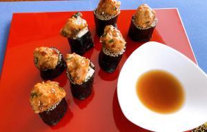 つくね団子onそば寿司