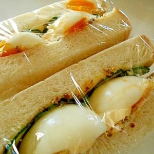 粒マスタードたっぷり とろとろ半熟ゆで卵サンド