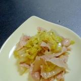 白菜と豚バラのしょうゆ炒め