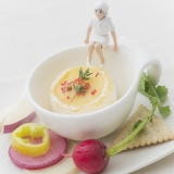 【コップのレシピ】フチ子さんのチーズフォンデュー