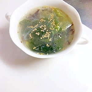 具だくさんの中華スープ