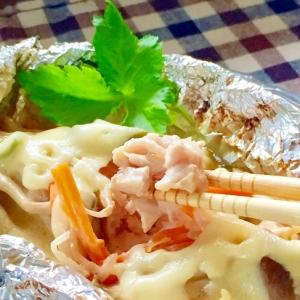 鮭の味噌マヨチーズホイル焼き