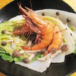 お手軽☆白菜と海老のアンチョビソース