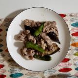 しし唐辛子と豚肉の味噌炒め