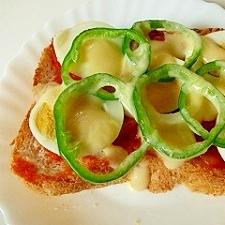 ピザ風卵トースト