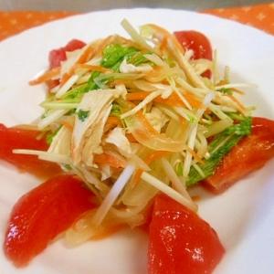 蒸鶏と野菜のポン酢和え