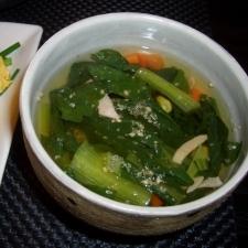小松菜とハムの和風スープ