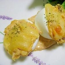ゆで卵のプチグラタン