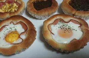 【HB】マドレーヌ型で作る簡単お惣菜パン3種