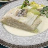 白菜の重ね煮クリームソース