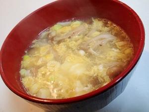 生姜入り しめじと卵のとろみスープ