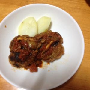減塩 ハンバーグのトマト煮込み