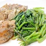 ジューシー焼き鳥のからし菜炒め添え