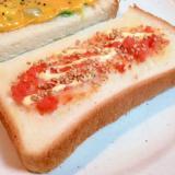 マスカルポーネチーズと辛子明太子のトースト