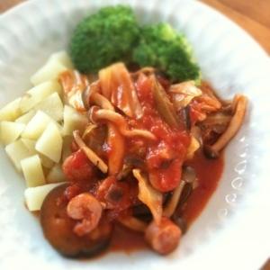 温野菜のトマトソースがけ