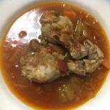 圧力鍋で 手羽元の無水トマトスープ