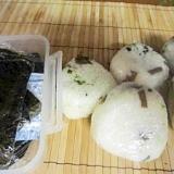 ∝キャラブキと青菜のおむすび∝
