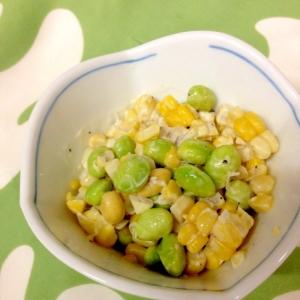 枝豆、コーンのミニサラダ